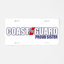 USCG Sister Aluminum License Plate
