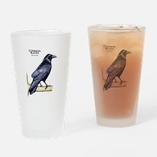 Common Raven Drinking Glass