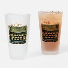 typewriter writer Drinking Glass