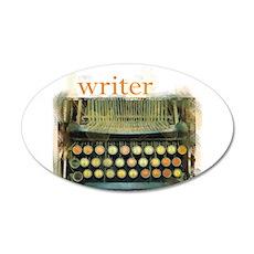 typewriter writer 22x14 Oval Wall Peel