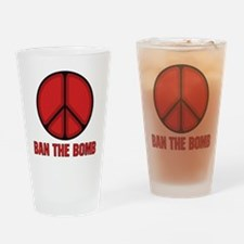 Ban the Bomb Drinking Glass