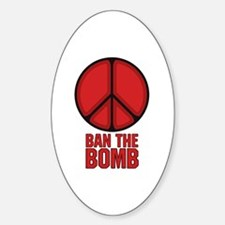 Ban the Bomb Sticker (Oval)