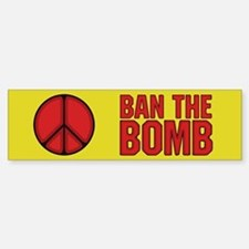 Ban the Bomb Sticker (Bumper 10 pk)