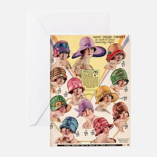 Flapper Hats Greeting Card