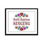 Singing Happiness Framed Panel Print