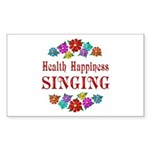 Singing Happiness Sticker (Rectangle)