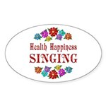 Singing Happiness Sticker (Oval 50 pk)