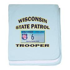 Wisconsin State Patrol baby blanket
