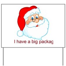 I Have A Big Package Yard Sign