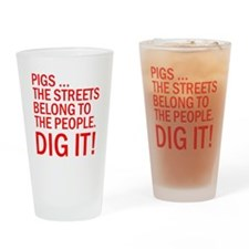 PIGS IN THE STREET Drinking Glass