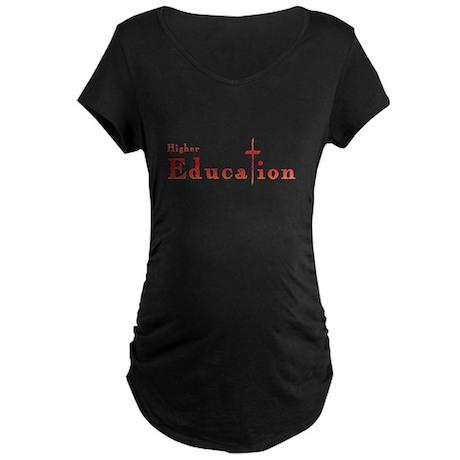 Higher Education Cross Maternity Dark T-Shirt