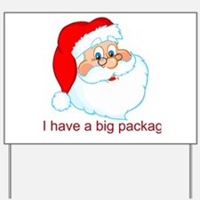 Funny Christmas Santa Claus Yard Sign