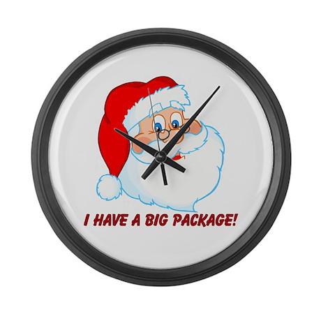 Funny Christmas Santa Claus Large Wall Clock