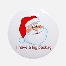 Funny Christmas Santa Claus Ornament (Round)