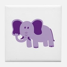 Funny Elephant Tile Coaster