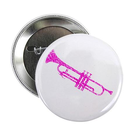 """Pink Trumpet 2.25"""" Button"""