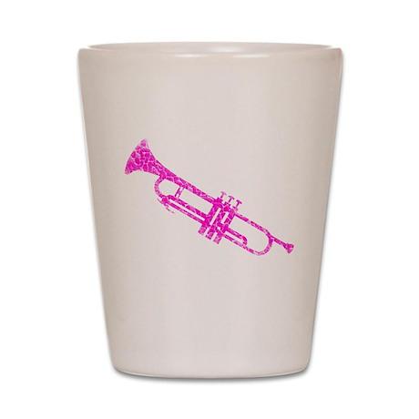 Pink Trumpet Shot Glass