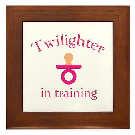 Twilighter in training Framed Tile