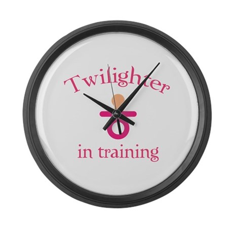 Twilighter in training Large Wall Clock