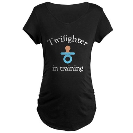 Twilighter in training Maternity Dark T-Shirt