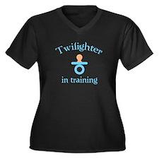 Twilighter in training Women's Plus Size V-Neck Da