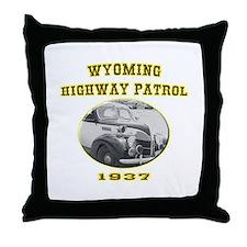 Wyoming Highway Patrol Throw Pillow