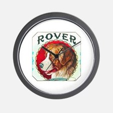 Rover Dog Cigar Label Wall Clock