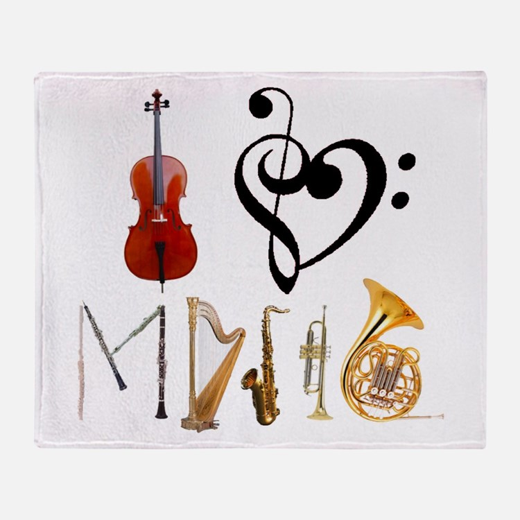Cute Trumpets Throw Blanket