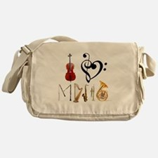Cute Music Messenger Bag
