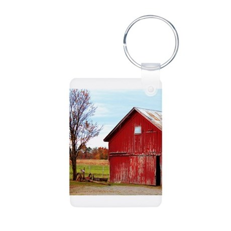 Ole' Red Aluminum Photo Keychain