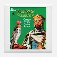 Camelot Cigar Label Tile Coaster