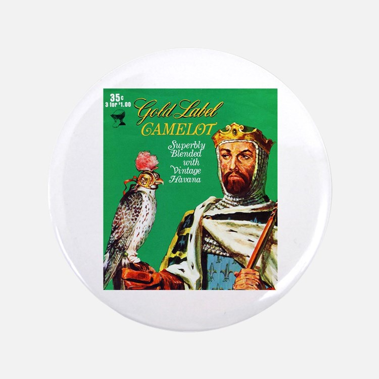 "Camelot Cigar Label 3.5"" Button"