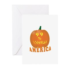 occupy 99% pumpkin Greeting Cards (Pk of 10)