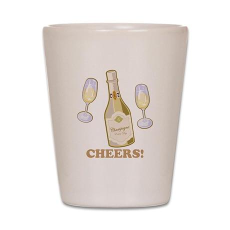 Cheers Champagne Shot Glass