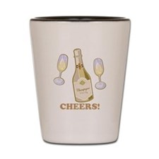Cheers Champagne Shot Glass