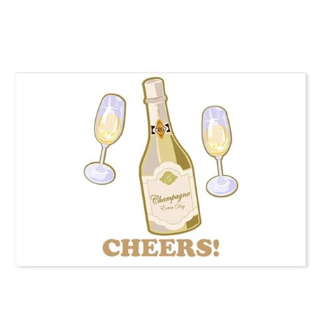 Cheers Champagne Postcards (Package of 8)