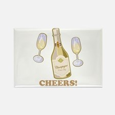 Cheers Champagne Rectangle Magnet