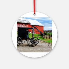 Country Scene Ornament (Round)