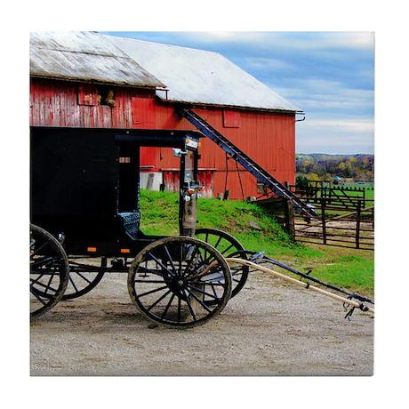 Country Scene Tile Coaster