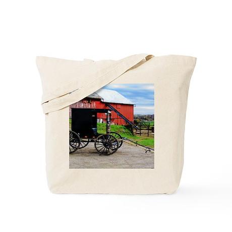 Country Scene Tote Bag