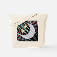 Moon, Stars, & Rising Sun Tote Bag