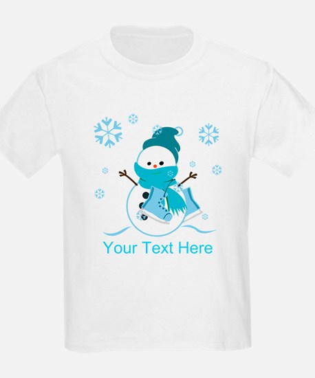 Cute Personalized Snowman T-Shirt