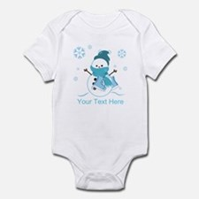 Cute Personalized Snowman Infant Bodysuit