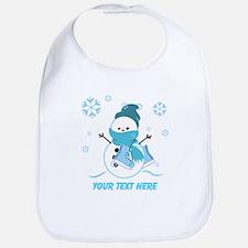 Cute Personalized Snowman Bib