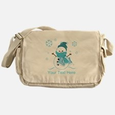 Cute Personalized Snowman Messenger Bag
