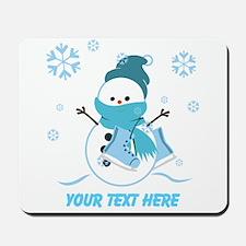 Cute Personalized Snowman Mousepad