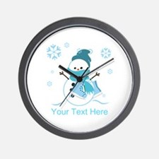 Cute Personalized Snowman Wall Clock