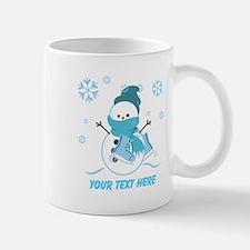 Cute Personalized Snowman Small Mugs