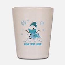 Cute Personalized Snowman Shot Glass