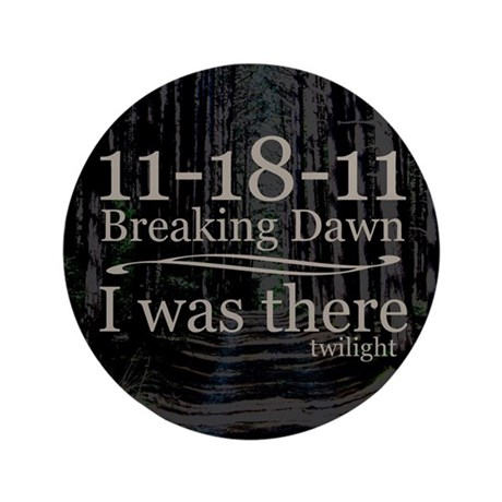 """11-18-11 I Was There Breaking 3.5"""" Button (100 pac"""